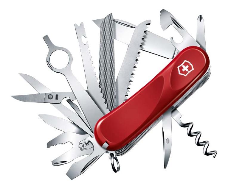 Купить Нож перочинный Evolution 28 85мм 23 функции (красный), Victorinox