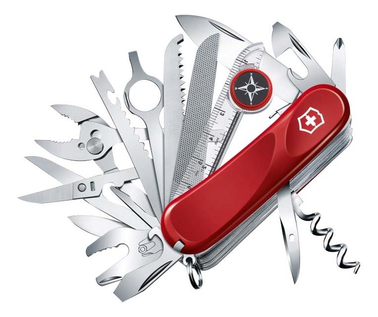 Нож перочинный Evolution S54 85мм 32 функции с фиксатором лезвия (красный) нож перочинный victorinox victorinox evolution s14 красный 85мм