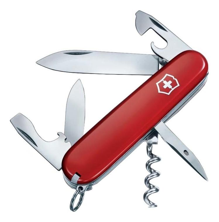 цена на Нож перочинный Spartan 91мм 12 функций (красный)