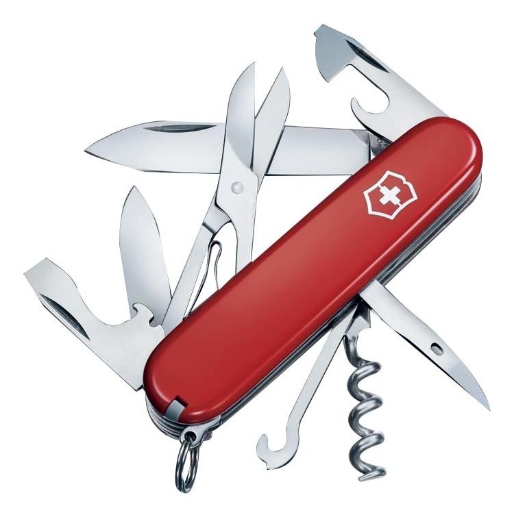 цена на Нож перочинный Climber 91мм 14 функций (красный)