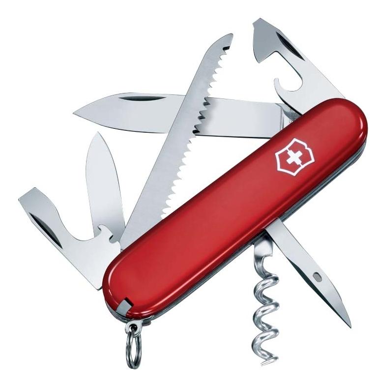 цена на Нож перочинный Camper 91мм 13 функций (красный)