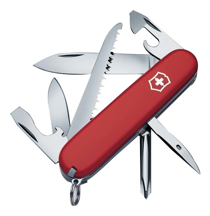 Нож перочинный Hiker 91мм 13 функций (красный)