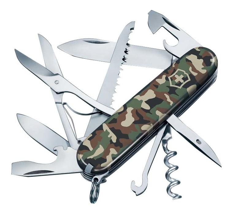 Нож перочинный Huntsman 91мм 15 функций (камуфляж) нож victorinox huntsman 1 3713 3 black