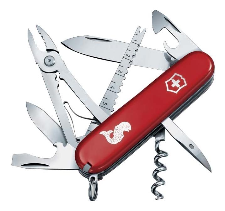 цена на Нож перочинный Angler 91мм 19 функций (красный)