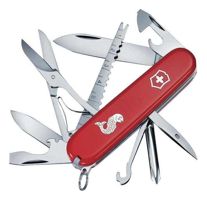 Нож перочинный Fisherman 91мм 18 функций (красный) нож перочинный cybertool 41 91мм 39 функций полупрозрачный красный