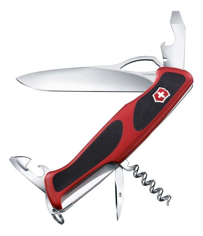 Купить Нож перочинный Rangergrip 61 130мм 11 функций с фиксатором лезвия (красный с черным), Victorinox