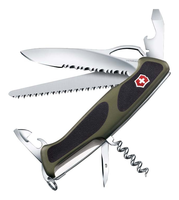 Купить Нож перочинный Rangergrip 179 130мм 12 функций с фиксатором лезвия (зеленый с черным), Victorinox