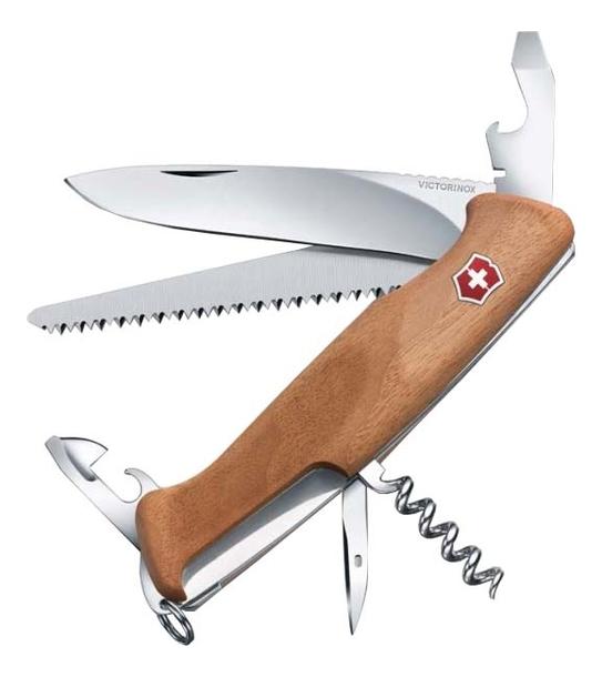 Нож перочинный Rangerwood 55 130мм 10 функций с фиксатором (ореховое дерево) rangerwood