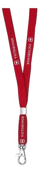Шнурок на шею с карабином (красный)