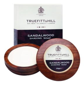 Люкс-мыло для бритья в деревянной чаше Sandalwood Luxury Shaving Soap 99г