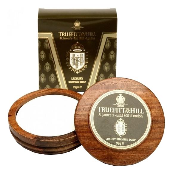 Купить Люкс-мыло для бритья в деревянной чаше Luxury Shaving Soap 99г, Truefitt & Hill