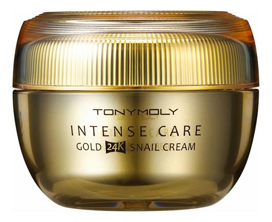Купить Крем для лица с экстрактом улиточного муцина и золота Intense Care Gold 24K Snail Cream 45мл, Tony Moly