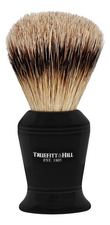 Truefitt & Hill Помазок Faux Ebony Super Badger Shave Brush Carlton (ворс серебристого барсука, эбонит с серебром, 10см)