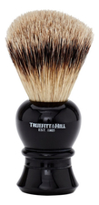 Truefitt & Hill Помазок Faux Ebony Super Badger Shave Brush Regency (ворс серебристого барсука, эбонит с серебром)
