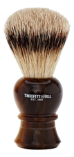 Truefitt & Hill Помазок Faux Horn Super Badger Shave Brush Regency (ворс серебристого барсука, рог с серебром)