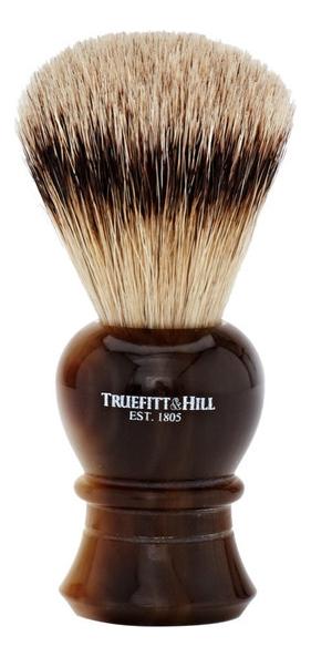 Помазок Faux Horn Super Badger Shave Brush Regency (ворс серебристого барсука, рог с серебром)