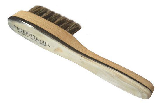 Щетка для бороды из натуральной щетины с отделкой благородного дерева и рога Ox Horn Beard Brush