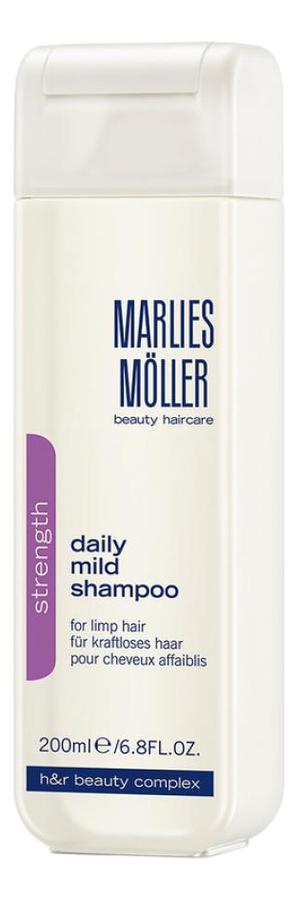 Купить Мягкий шампунь для волос Strength Daily Mild Shampoo: Шампунь 200мл, Marlies Moller