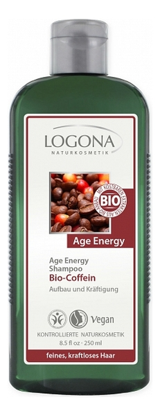 Купить Шампунь с кофеином и ягодами годжи Bio Caffeine Shampoo 250мл, Logona