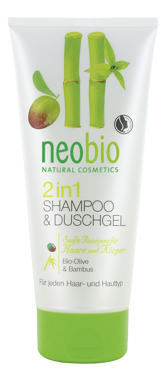 Шампунь-гель 2 в 1 Bio-Olive & Bamboo Shampoo-Shower Gel 200мл