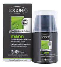 Logona Увлажняющий крем с Q10 Mann Smoothing Hydro Cream Ginkgo & Coffeine 50мл