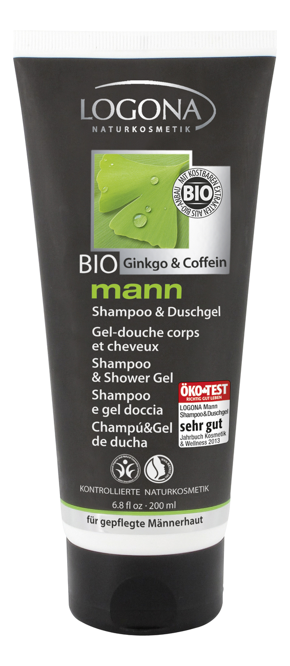 Купить Шампунь и гель для душа Mann Shampoo & Shower Gel Ginkgo & Coffeine 200мл, Шампунь и гель для душа Mann Shampoo & Shower Gel Ginkgo & Coffeine 200мл, Logona