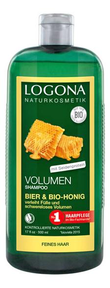 Купить Шампунь для объема с медом и пивом Volume Shampoo Beer & Bio Honey: Шампунь 500мл, Шампунь для объема с медом и пивом Volume Shampoo Beer & Bio Honey, Logona