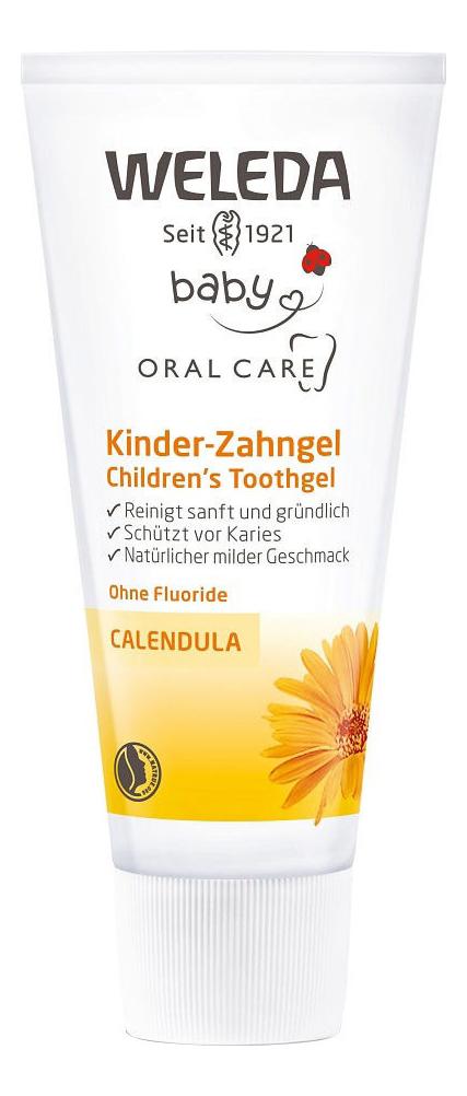 Детская зубная паста-гель с экстрактом календулы Children's Tooth Gel 50мл weleda детская зубная паста гель 50 мл