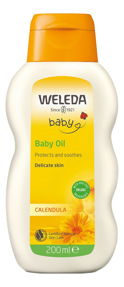 Масло с экстрактом календулы для младенцев с нежным ароматом Baby Calendula Oil 200мл масло для младенцев с календулой weleda calendula oil 200 мл