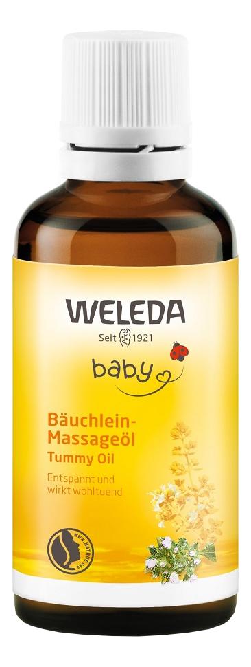Масло для массажа животика младенцев Baby Tummy Oil 50мл масло для массажа животика младенцев weleda baby tummy oil 50 мл