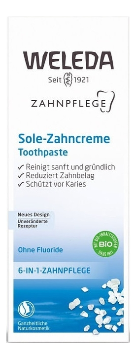 Купить Зубная паста солевая Salt Toothpaste 75мл, Weleda