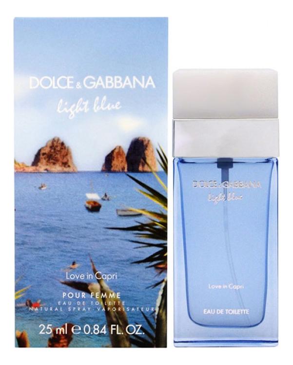Light Blue Love in Capri: туалетная вода 25мл недорого