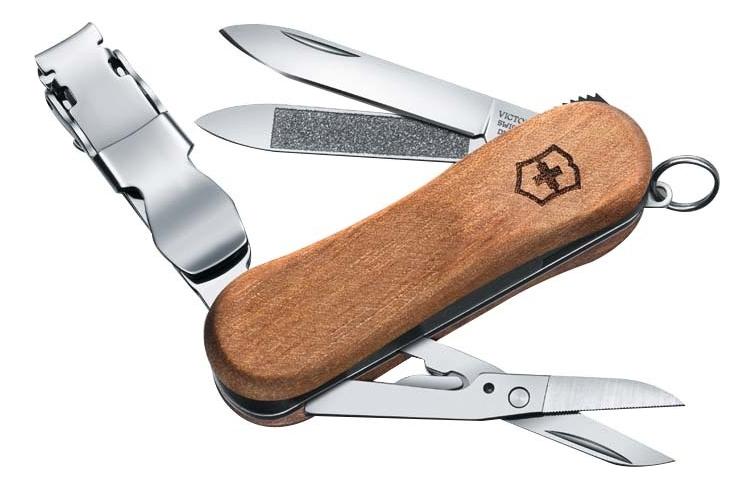 Нож-брелок Nailclip Wood 65мм 6 функций (деревянная рукоять)