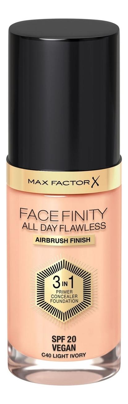 Фото - Тональная основа Facefinity All Day Flawless 3 in 1 30мл: 40 Light Ivory тональный крем для лица max factor facefinity all day flawless 3 in 1 30 мл