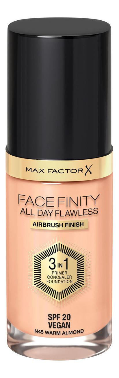 Фото - Тональная основа Facefinity All Day Flawless 3 in 1 30мл: 45 Warm Almond тональный крем для лица max factor facefinity all day flawless 3 in 1 30 мл
