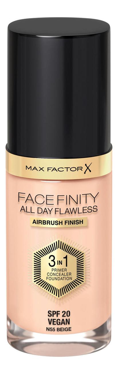 Фото - Тональная основа Facefinity All Day Flawless 3 in 1 30мл: 55 Beige тональный крем для лица max factor facefinity all day flawless 3 in 1 30 мл