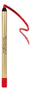 Карандаш для губ Colour Elixir Lip Liner 1,2г: 10 Red Rush карандаш для губ max factor colour elixir 1 2 гр тон 04 pink princess