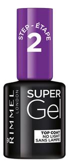 Верхнее покрытие-гель для ногтей Super Gel Top Coat 12мл верхнее покрытие гель для ногтей super gel top coat 12мл