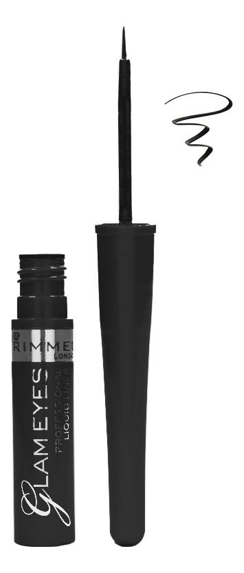 Фото - Жидкая подводка для глаз Glam'eyes Professional Liquid Liner 3,5мл: 01 Black Glamour подводка graphik ink liner подводка фломастер для глаз 01 black