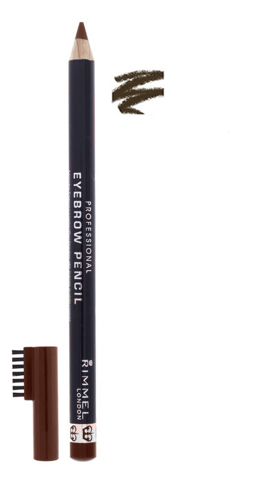 Фото - Карандаш для бровей с щеточкой Professional Eyebrow Pencil Re-Pack 1,4г: 01 Dark Brown pupa карандаш true eyebrow pencil оттенок 003 dark brown