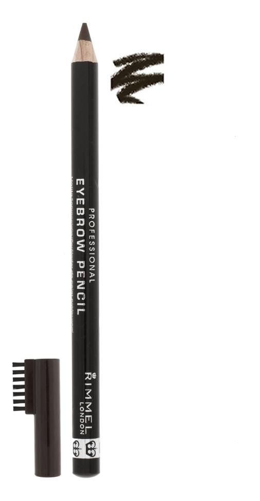 Карандаш для бровей с щеточкой Professional Eyebrow Pencil Re-Pack 1,4г: 04 Brown Black