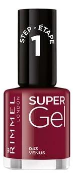 Гель-лак для ногтей Super Gel Nail Polish 12мл: 043 Venus гель лак для ногтей super gel nail polish 12мл 032 coctail passion