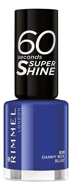 Фото - Лак для ногтей 60 Seconds 8мл: 828 Danny Boy, Blue! rimmel 60 seconds super shine лак для ногтей тон 300 8 мл
