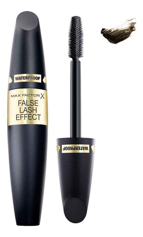 Купить Тушь для ресниц водостойкая с эффектом накладных ресниц False Lash Effect Waterproof 13, 1мл: 02 Black Brown, Max Factor