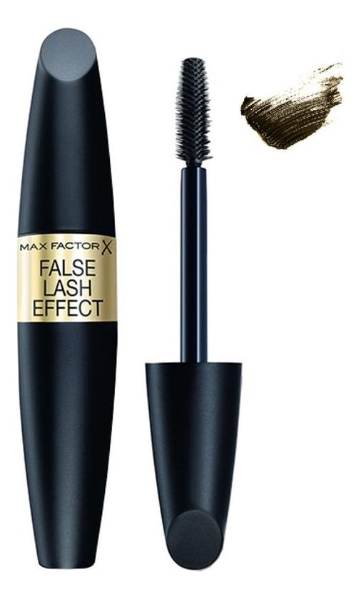 Купить Тушь для ресниц с эффектом накладных ресниц False Lash Effect 13, 1мл: 02 Black Brown, Max Factor
