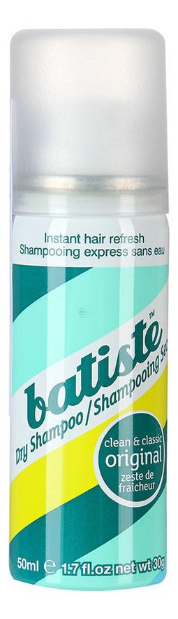 Купить Сухой шампунь (классический) Dry Shampoo Clean & Classic Original 50мл: Шампунь 50мл, Сухой классический шампунь для волос Dry Shampoo Clean & Classic Original, Batiste