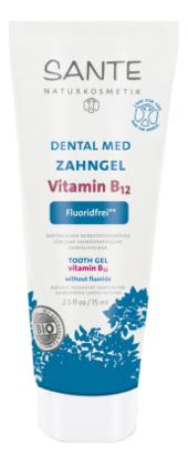 Купить Гелевая зубная паста с витамином В12 без фтора 75мл, Sante