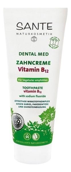 Купить Зубная паста с витамином В12 и фтором 75мл, Sante