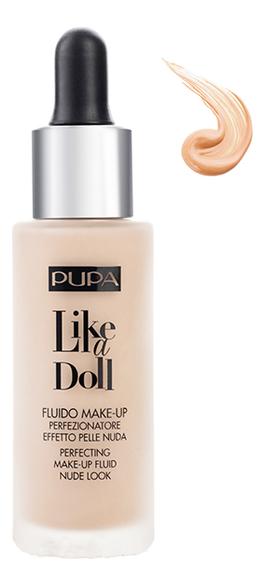 Тональный крем Like A Doll Make-Up Fluid Nude Look 30мл: 20 Светло-бежевый тональный флюид для лица flash nude fluid spf30 30мл 1 5 nude medium