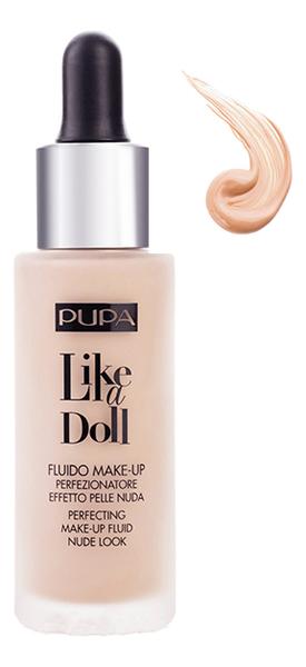 Тональный крем Like A Doll Make-Up Fluid Nude Look 30мл: 40 Средний бежевый